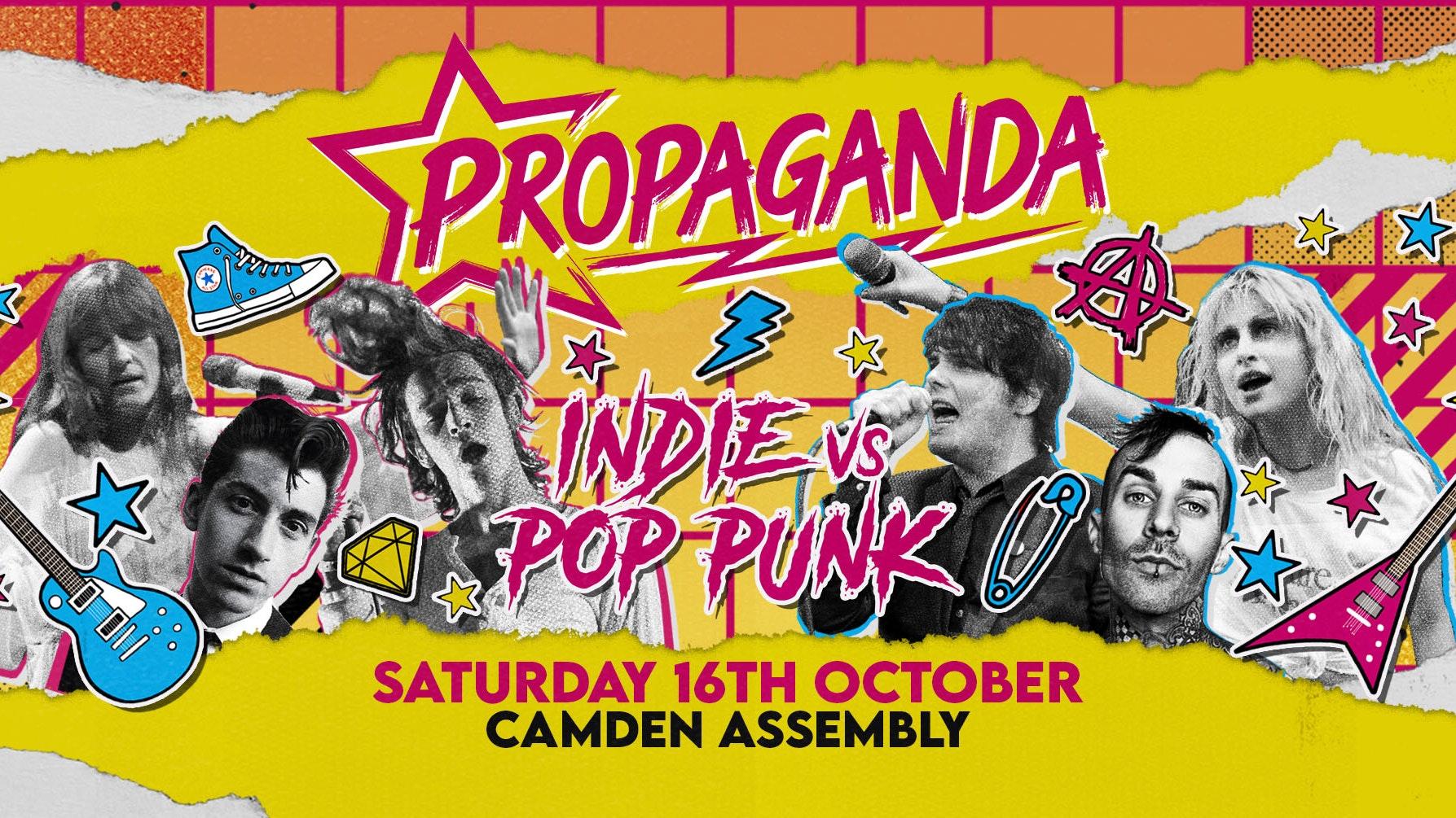 Propaganda London – Indie vs Pop-Punk Party!