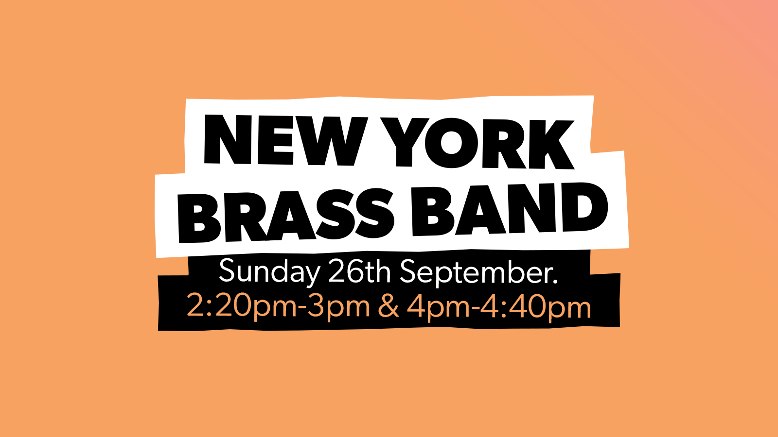 Chow Down: Sunday 26th September  – New York Brass Band (Live)
