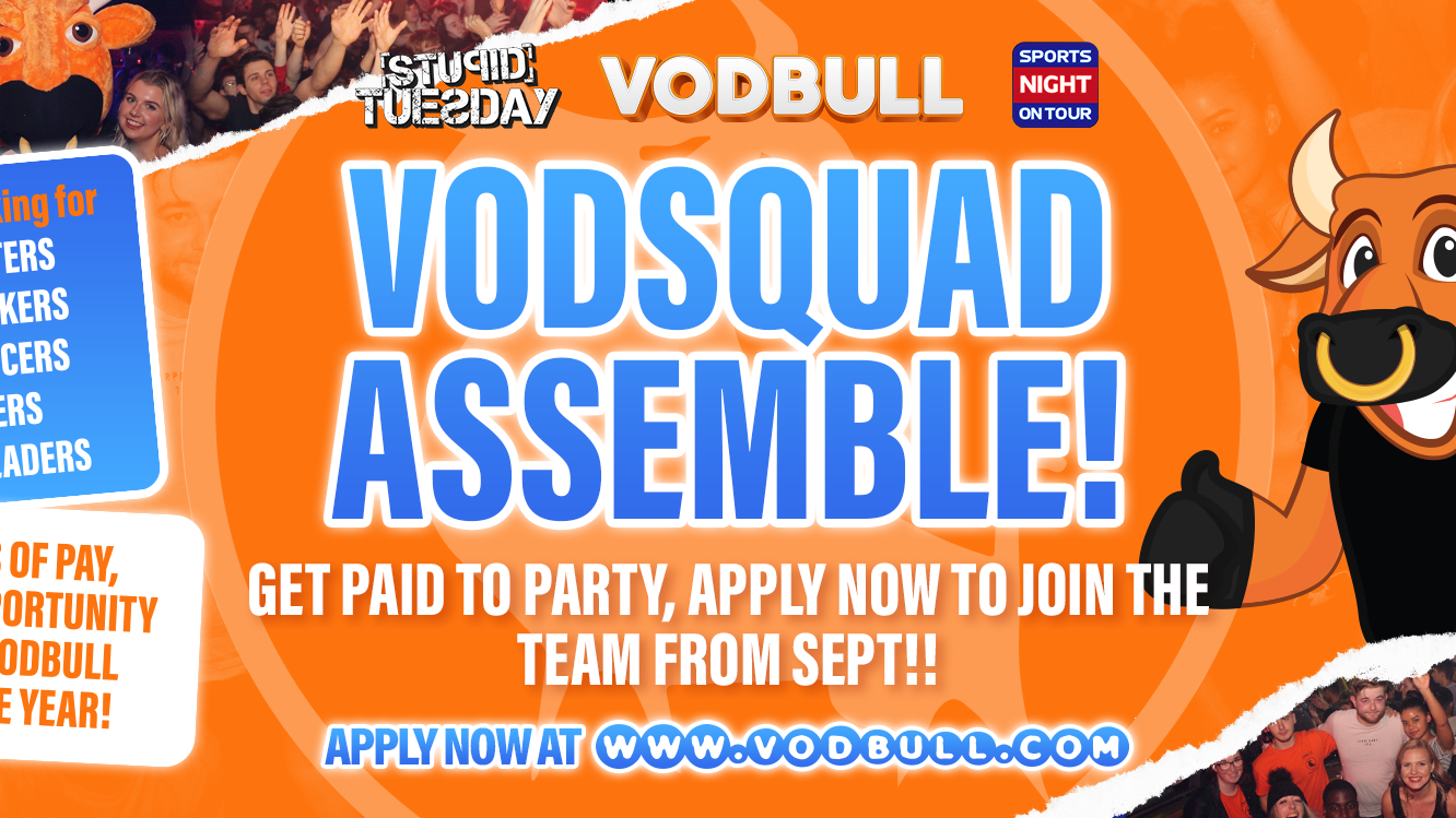 Get paid to party with Vodbull UK! ⚠️APPLICATION DEADLINE IS TODAY!⚠️ Birmingham Student Jobs 2021. Don't miss out, Sign up NOW !