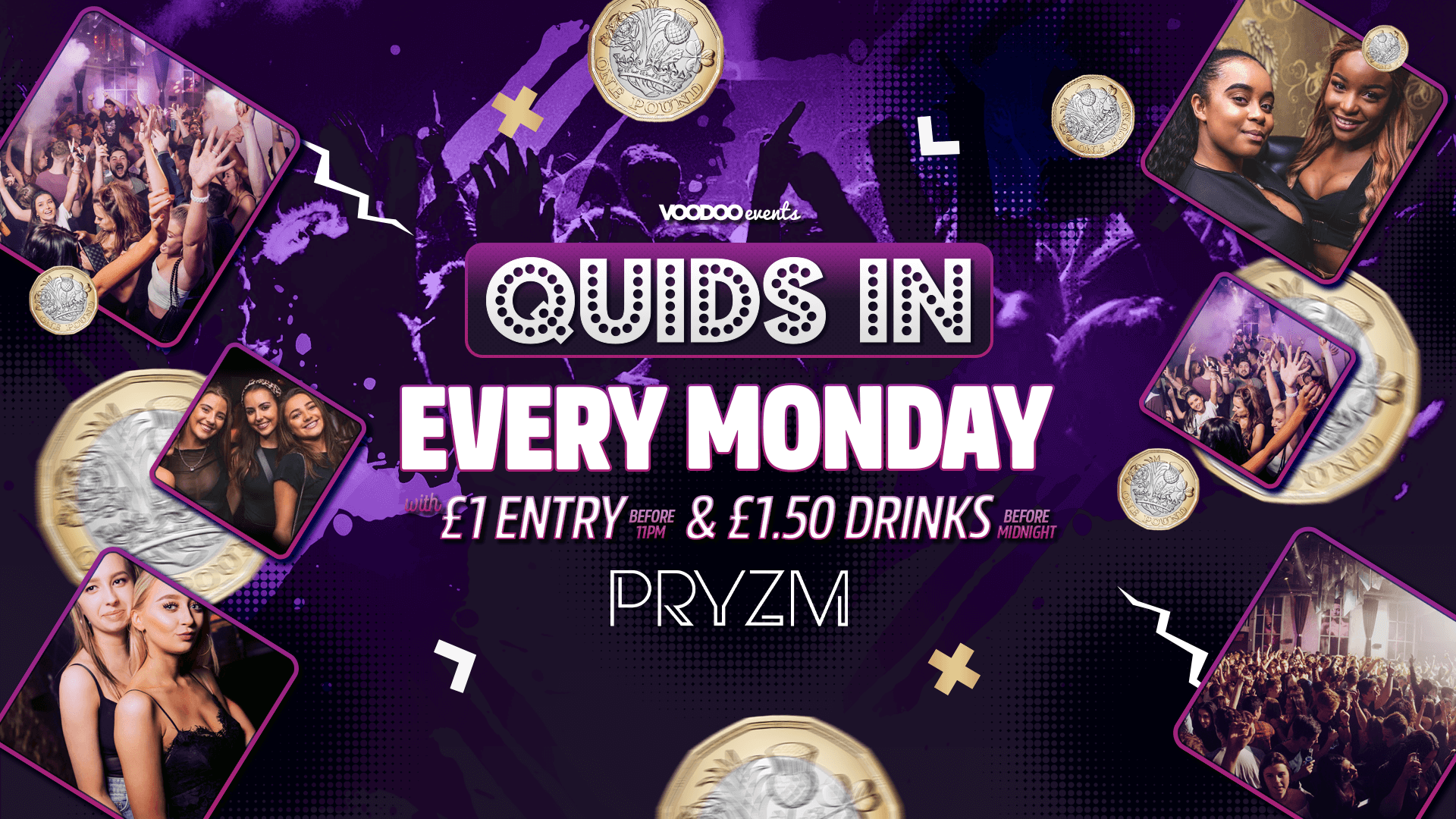 Quids In Mondays at PRYZM – Freshers 20th September