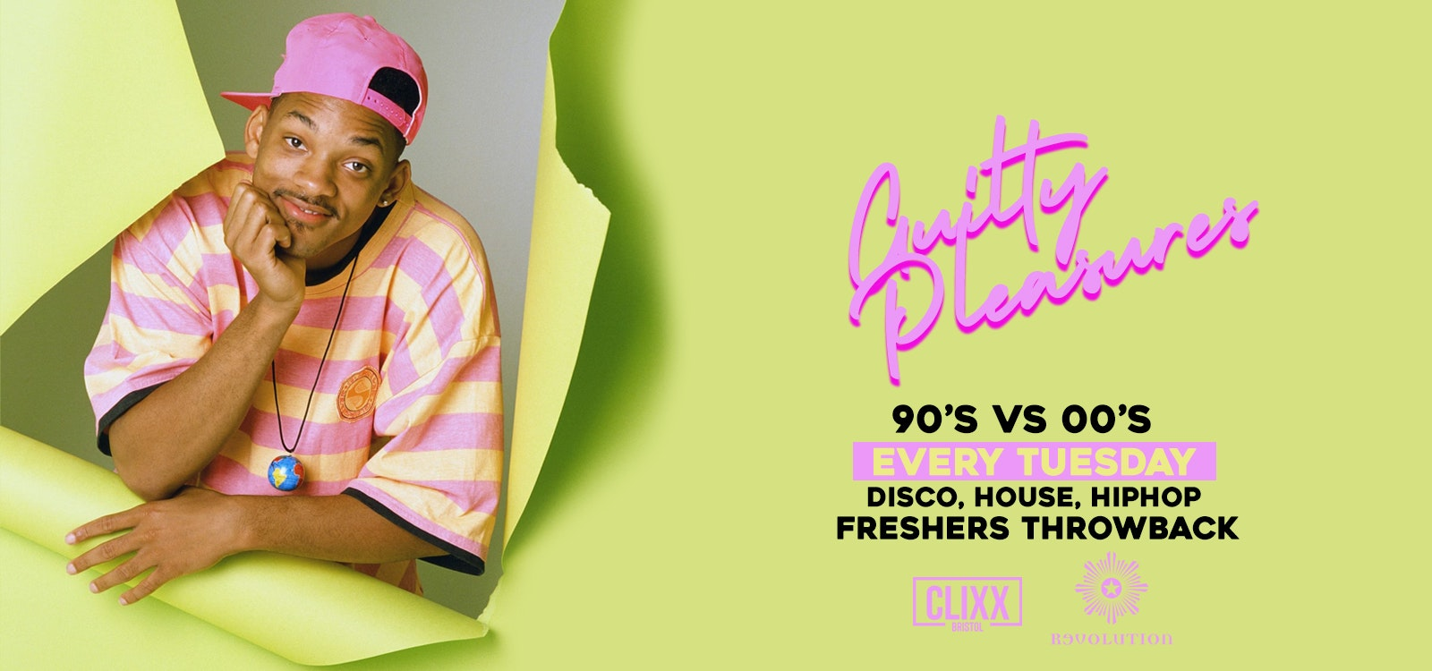Guilty Pleasures 90's VS 00's – The Ultimate Freshers Throwback Party  – SOLD OUT – 200 SPACES ON THE DOOR