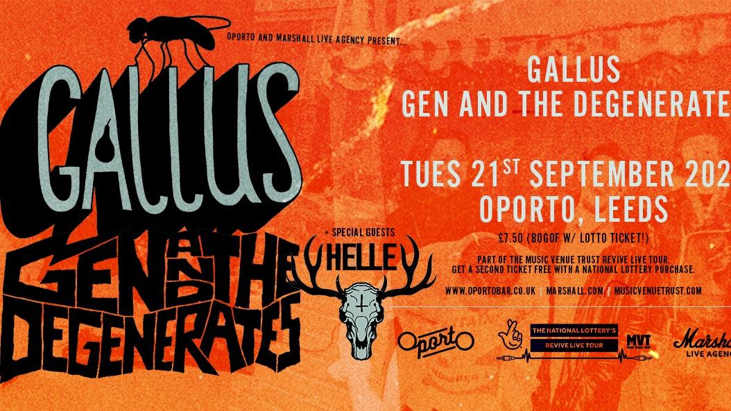 Gallus, Gen And The Degenerates & HELLE – Revive Live Tour