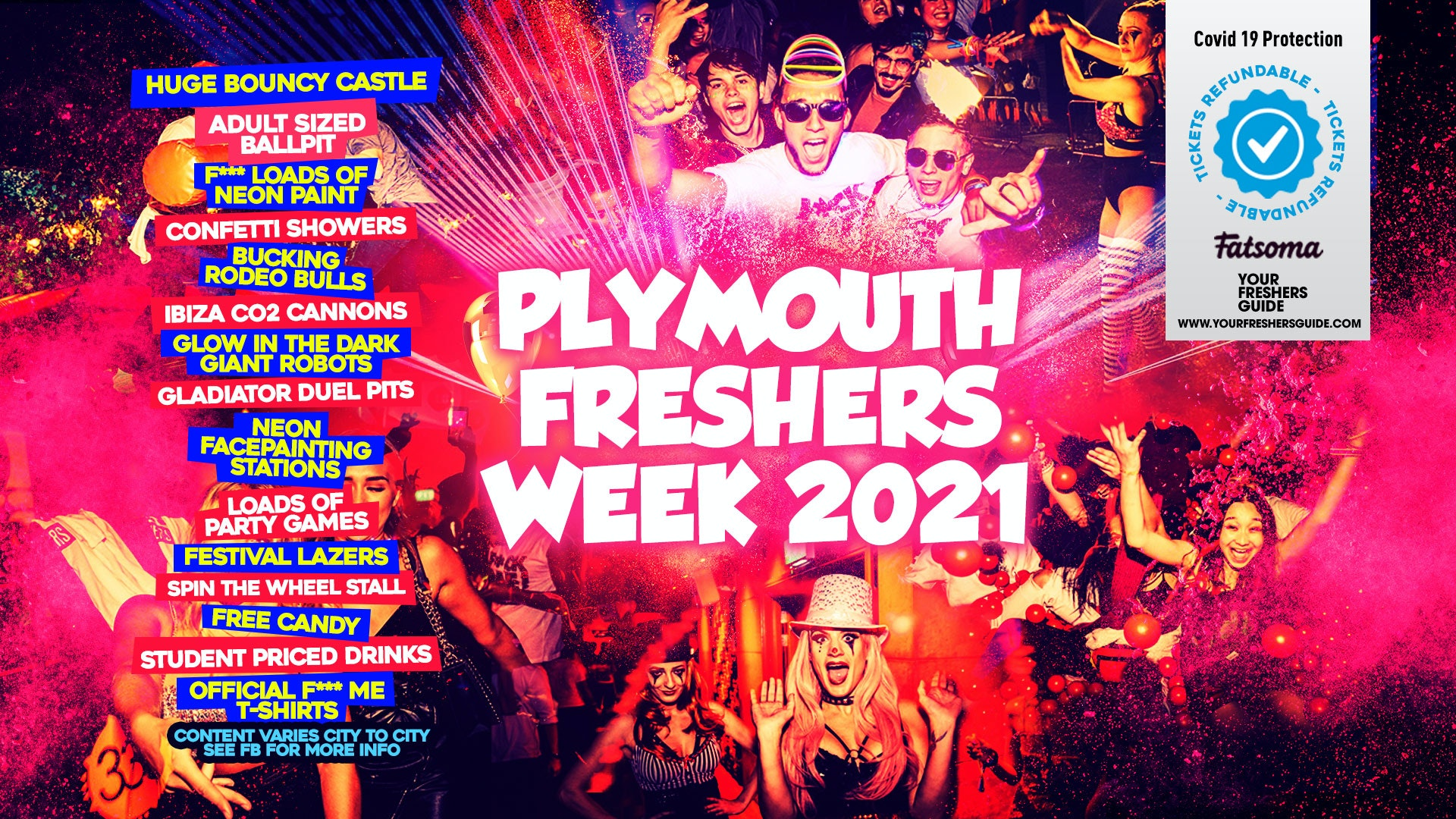 Plymouth Freshers Week 2021 // The BIGGEST Events of Plymouth Freshers!