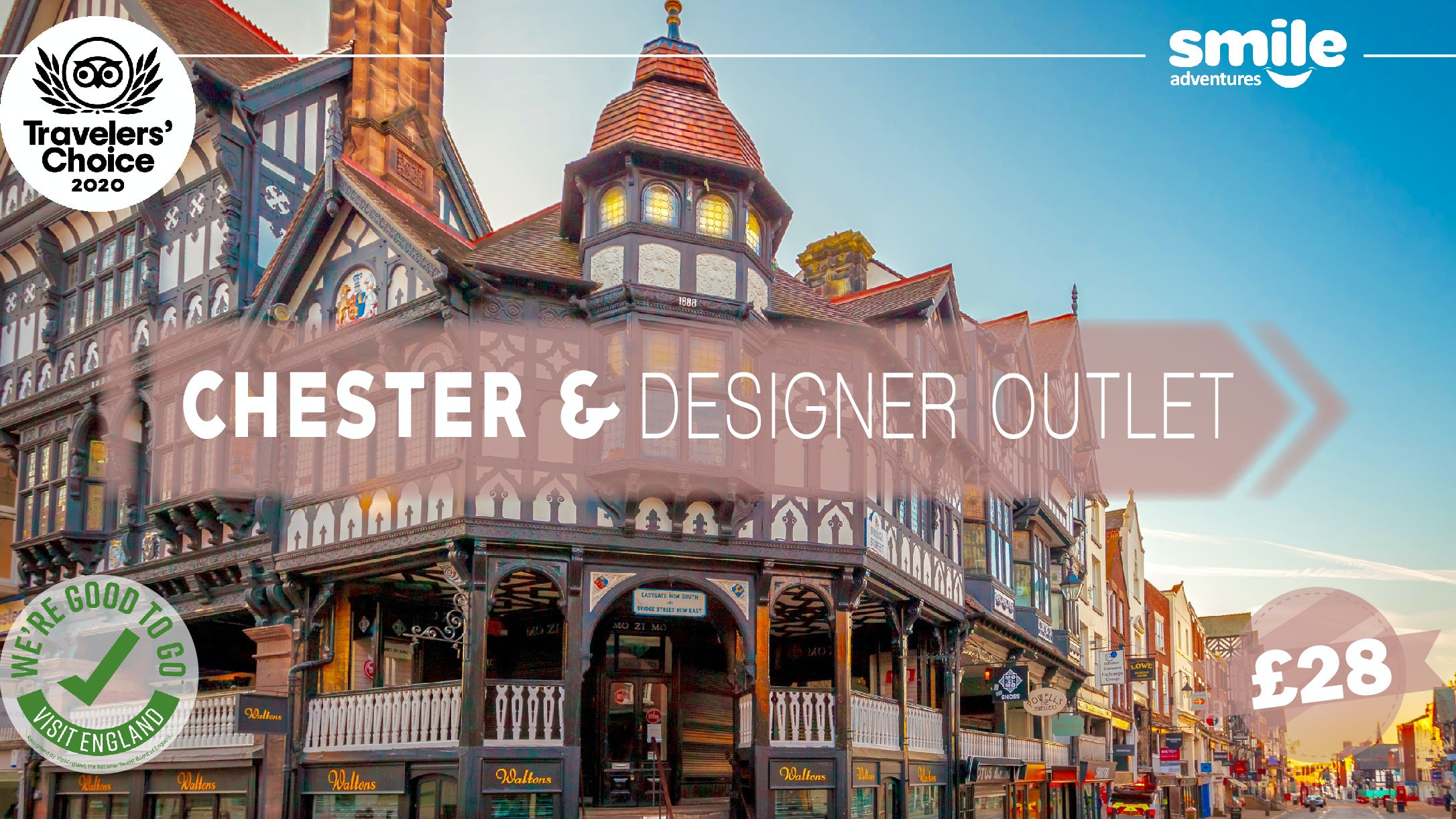 Chester & Designer Outlet – From Manchester
