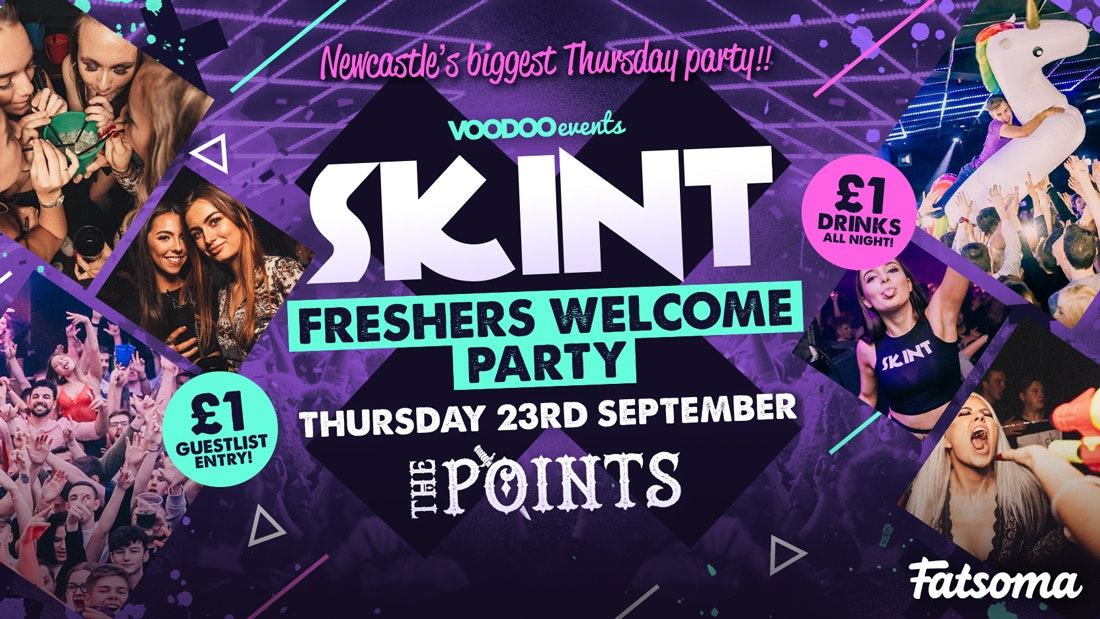 Skint – Freshers Welcome Party