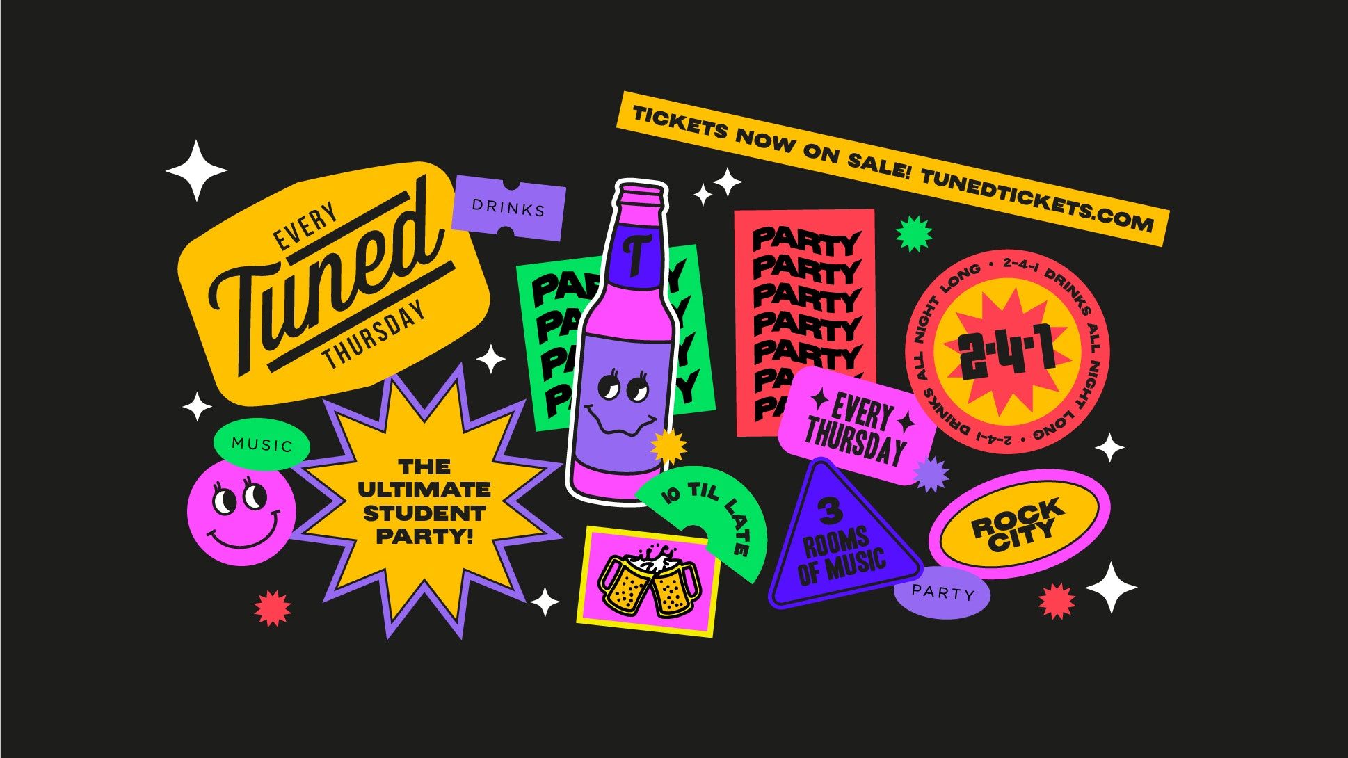 Tuned – Nottingham's Biggest Student Night – 2-4-1 Drinks All Night Long – 30/09/21  (ADVANCE TICKETS SOLD OUT – PAY ON THE DOOR AVAILABLE ON THE NIGHT)