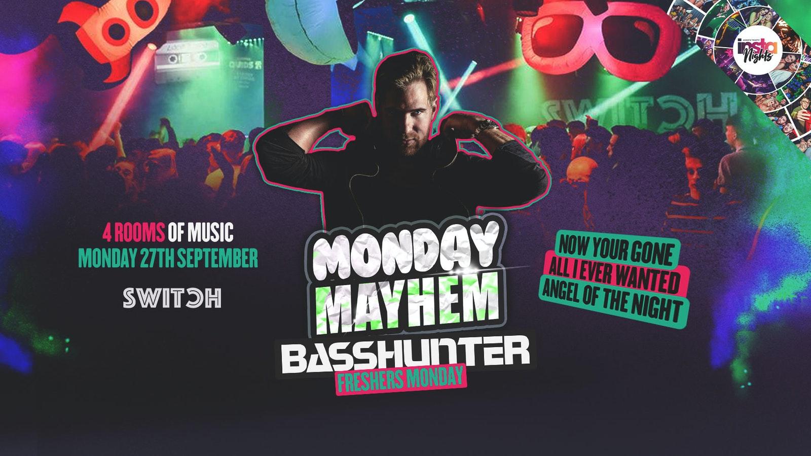 Monday Mayhem (Freshers Party ft BASSHUNTER Live) – Preston's Biggest Student Night