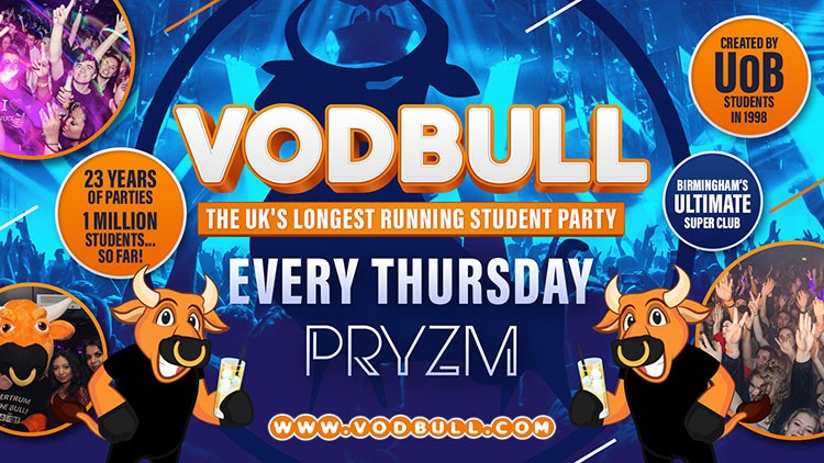 💥 VODBULL at PRYZM💥 30/09 💥 SELLING FAST!!