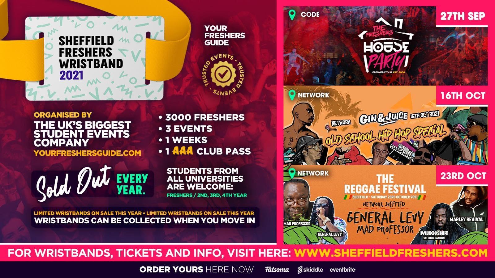The Sheffield Freshers Wristband 2021 // Sheffield Freshers 2021