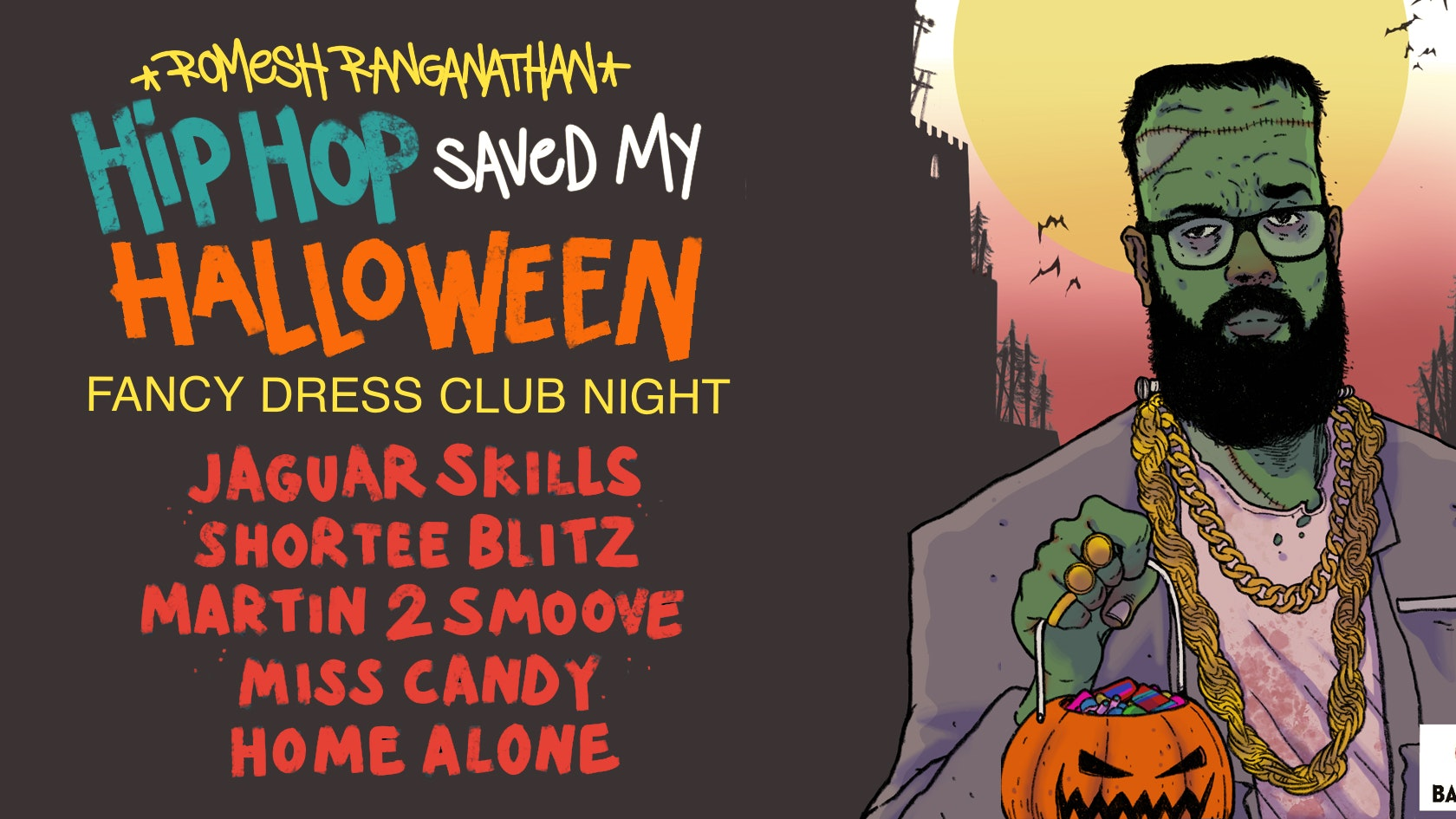 Romesh Ranganathan x HollerBack : HipHop Saved My Halloween – Lafayette London