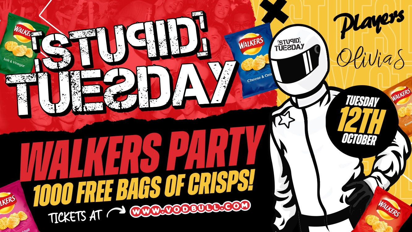 🥔 Stupid Tuesday Walkers Party 🥔 1000 Free Bags of Crisps 🥔