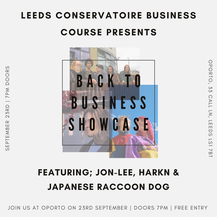 Back to Business showcase – Harkn, Jon-Lee & Japanese Racoon Dog