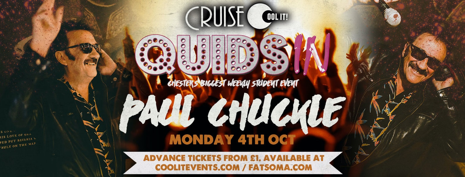 Quids In Mondays – hosted by Paul Chuckle!