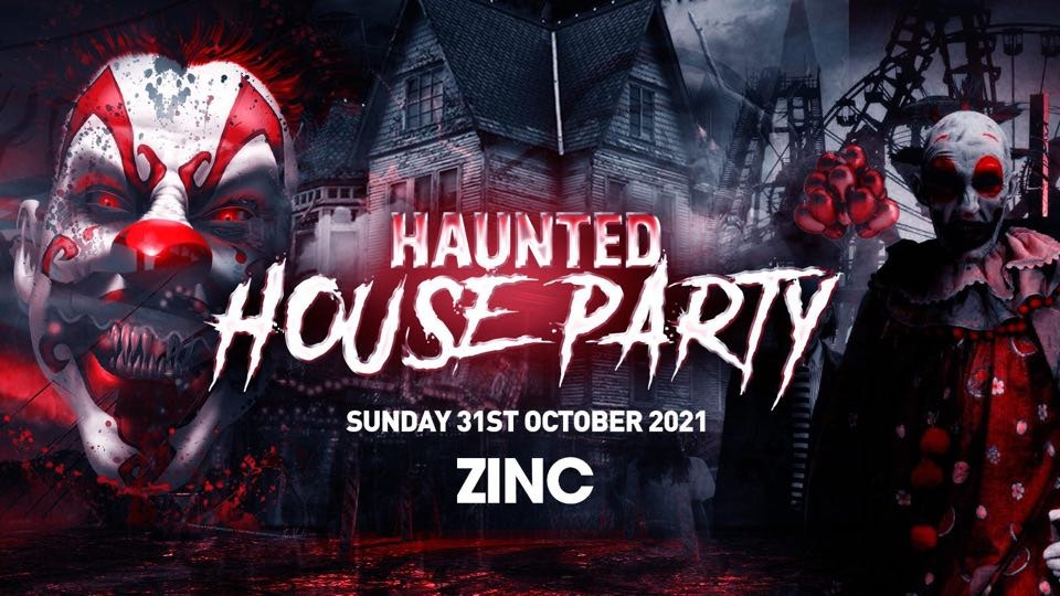 The Haunted House Party | Exeter Halloween 2021 – First 100 Tickets ONLY £3!