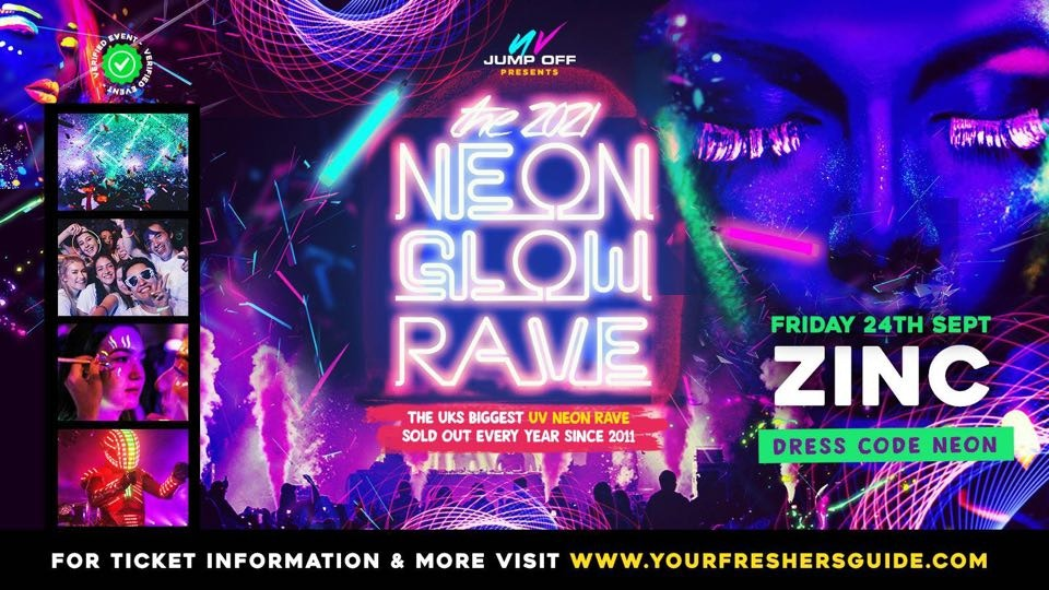 Neon Glow Rave | Exeter Freshers 2021 – First 100 Tickets ONLY £2!