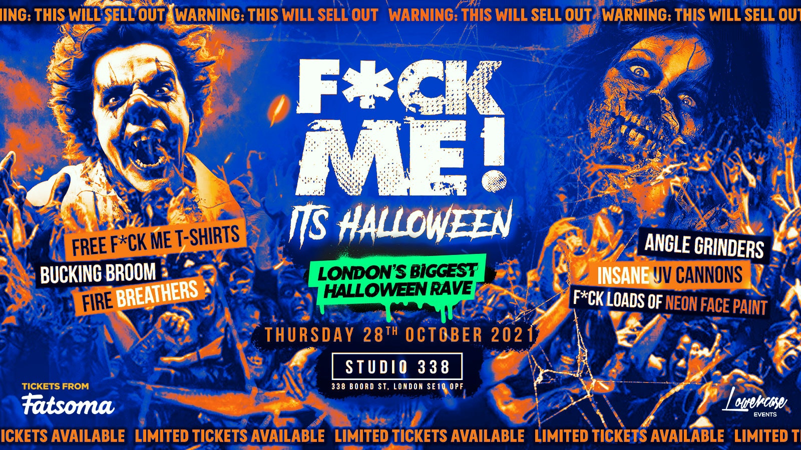 F*CK ME IT'S HALLOWEEN! ⚠️THIS EVENT WILL SELL OUT⚠️