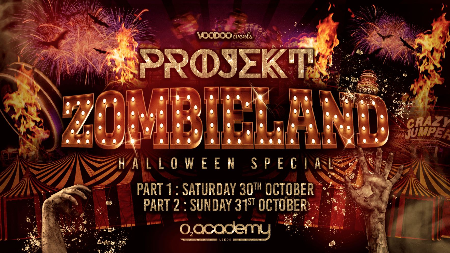 Projekt Zombieland Halloween Special Part 2 at the O2 Academy- 31st October