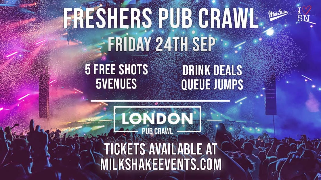The London Freshers Pub Crawl 2021 (TONIGHT!)