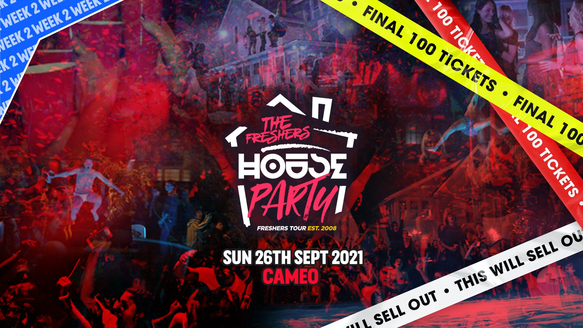THIS SUNDAY: The Freshers House Party   Bournemouth Freshers 2021 [Week 2 Freshers Event]