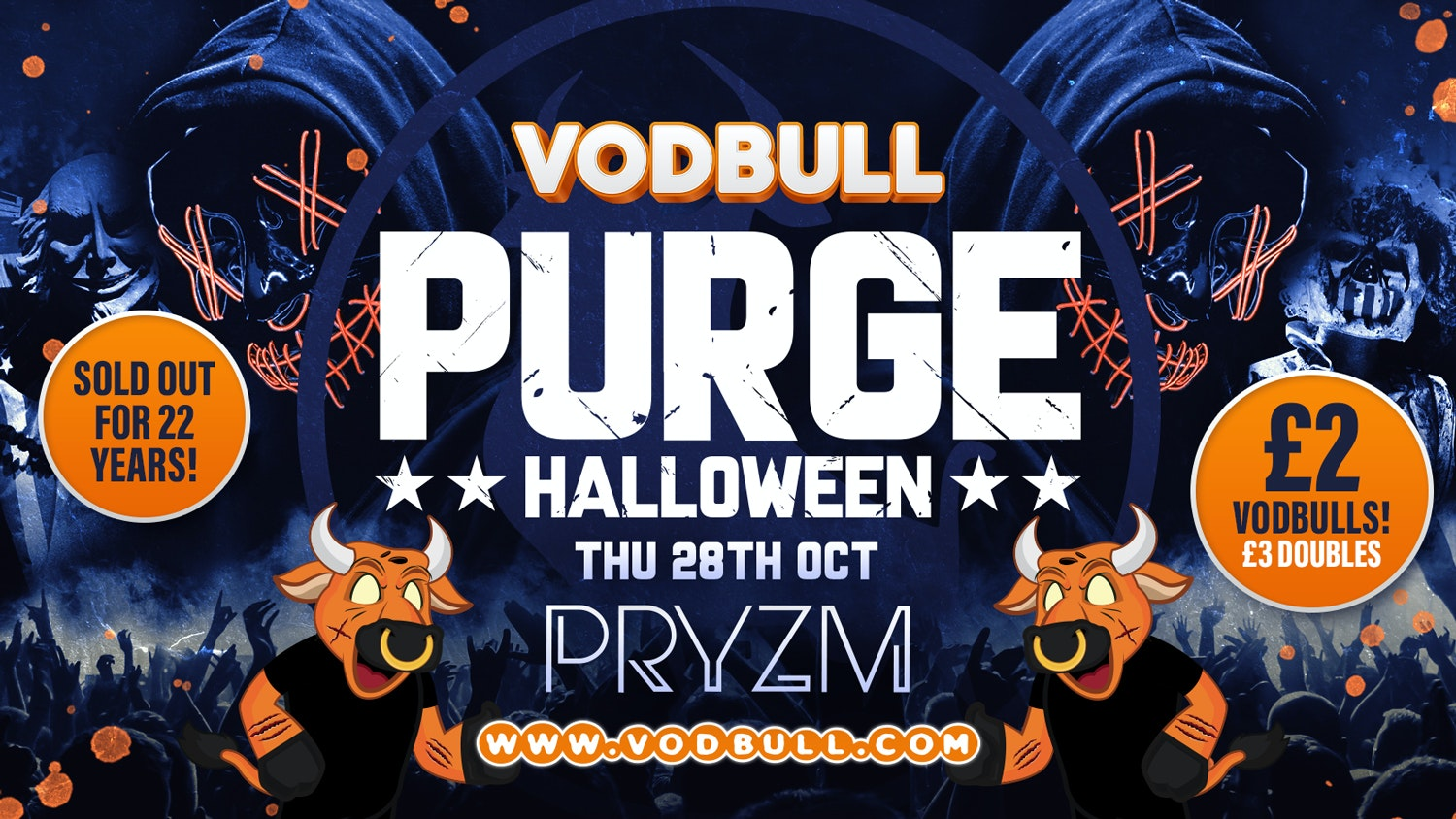 🎥VODBULL PURGE PARTY 🎥HALLOWEEN Movie Madness! 🎥 SELLING FAST!!