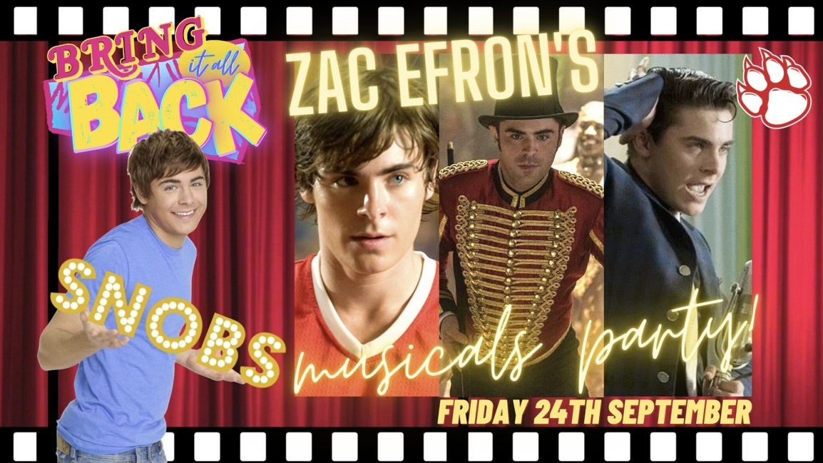 Rehab vs Bring It All Back (Zac Efron's Musicals Party) Friday 24th September