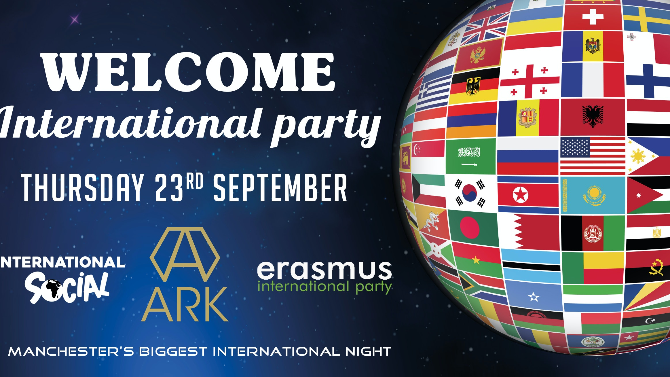 Welcome International  Party – Manchester