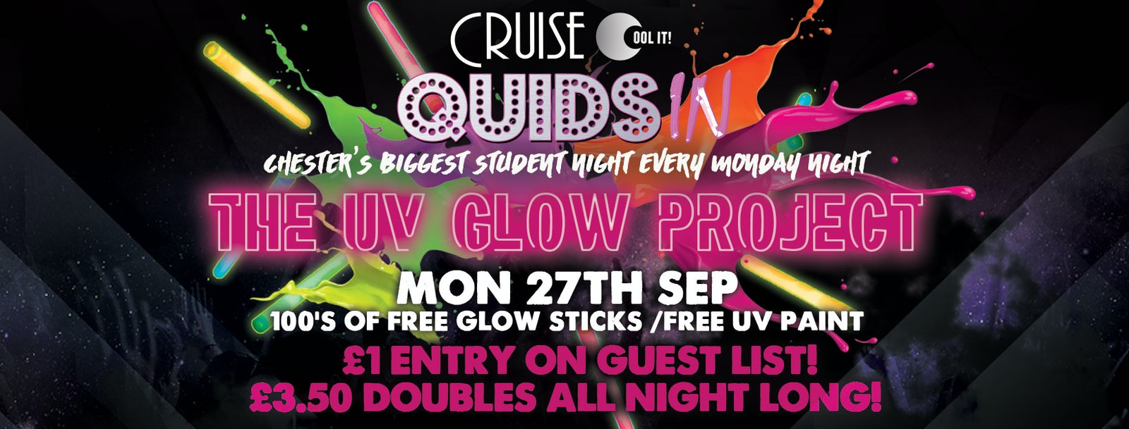 Quids In Mondays  – The UV Glow Project
