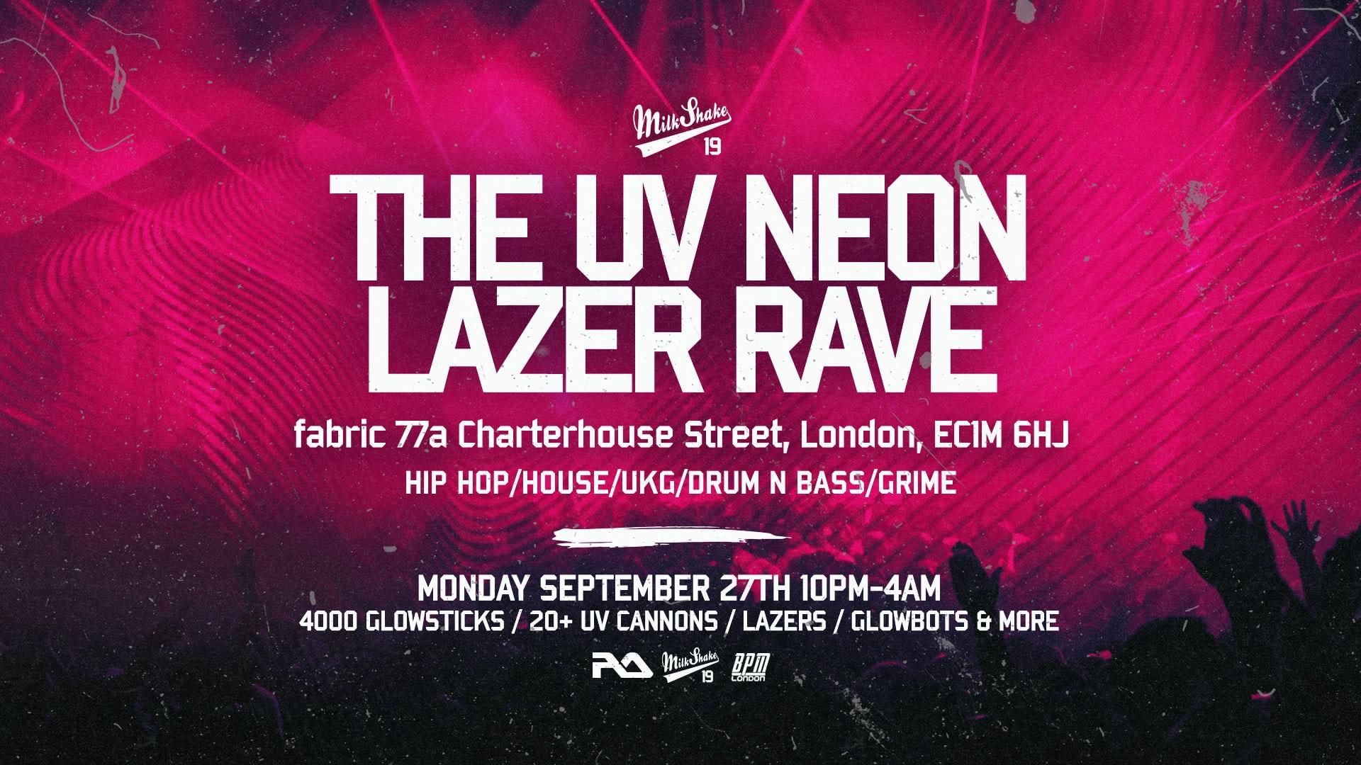 The UV Neon Freshers Laser Rave ⚡️