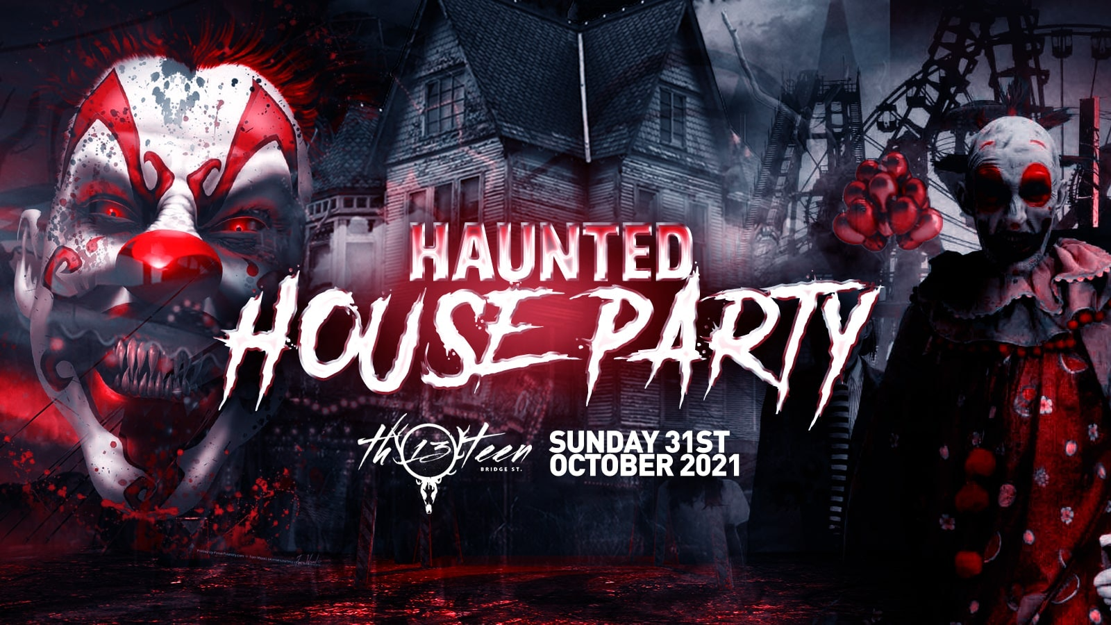 The Haunted House Party | Surrey / Guildford Halloween 2021 – First 100 Tickets £1
